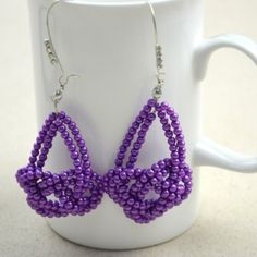 This new technique for handmade beaded jewelry is about making the Josephine knot pattern handmade earrings.