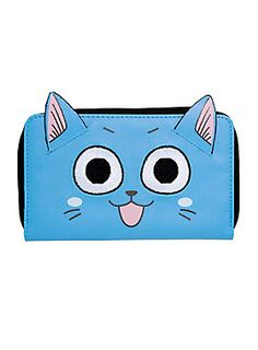"<div>Happy is a proud member of the <i>Fairy Tail</i> guild, but he'll carry whatever treasures any adventurer needs on this anime wallet. The real Happy might use this to carry fish, but we don't recommend it.  Your magical zip wallet conjures 8 card slots, a zipper pouch and a billfold.</div><div><p class=""MsoNormal""></p><ul><li style=""list-style-position: inside !important; list-style-type: disc !important"">Polyurethane</li><li style=""list-style-position: inside !important; list-styl..."