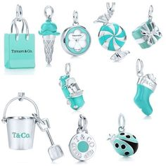 Tiffany & Co. Charms - Neue Ideen - Tiffany & Co. Charms Tiffany & Co. Tiffany And Co Bracelet, Tiffany Jewelry, Opal Jewelry, Luxury Jewelry, Tiffany Earrings, Turquoise Jewelry, Silver Earrings, Tiffany Et Co, Tiffany Blue