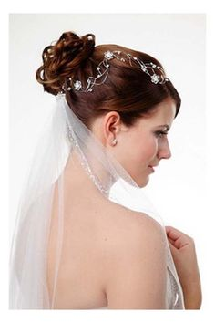 Hairstyles, Wedding Half Updos With Veil: Hairstyles with veil
