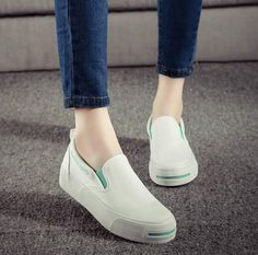 2016 High quality muffin heavy-bottomed shallow mouth of canvas shoes women shoes casual shoes a pedal student flat bottom shoes