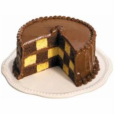 Checkerboard Cake - Can't pick your favorite? Bake a Checkerboard Cake and you can put two flavors in one cake! Our checkerboard Cake Pan Set, with three cake pans and a reusable ringed insert, makes it easy to get perfect results every time.
