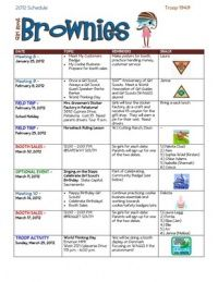 Great way to schedule meetings / give parents and girls reminders about what is coming up! @Laura Jayson Kleindienst