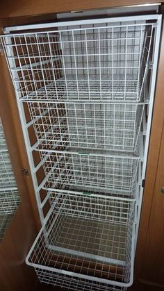 A great storage solution from Luis. He has installed wire drawer baskets in his Jayco Expanda. It looks like a great way to utilise a tight space.