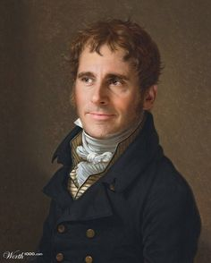 Celebrities Humorously Re-Imagined as Classic Paintings - Steve Carell
