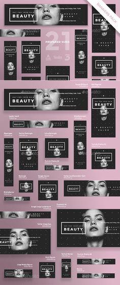 Skin Beauty Banner Template Pack - PSD, Vector EPS