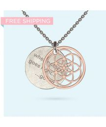 This sacred geometry seed of life, sometimes called the flower of life, covers your personal message engraved on a disk made from solid gold or silver. Washer Necklace, Pendant Necklace, Seed Of Life, Flower Of Life, Solid Gold, Valentine Day Gifts, Gift Ideas, Silver, Jewelry