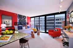bold-color-wall-studio-apartment