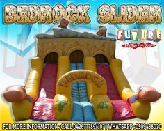We have BEDROCK SLIDER with a large range capacity not just for kids but for teens also for your events or parties! BOOK NOW! Call us now  042677789/107  Whatsapp: 0509438020  for more exciting inflatables and team building games to choose from!