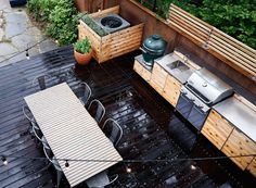Red Hook Ecoscape Outdoor Kitchen | Remodelista