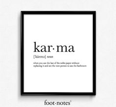karma definition college dorm girl dictionary art