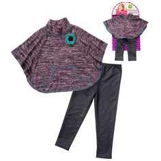 Dollie and Me Knit Poncho and Jeggings Set - Toddler