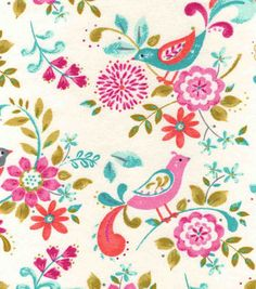 Snuggle Flannel Fabric-Madison Birds