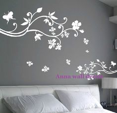 Bloom: wall decals, children wall decals,vinyl wall decal, wall stickers,flowers wall decals,Wall stickers, nursery wall stickers on Etsy, $68.00
