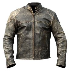Antique Stylish Vintage leather jacket available for sale. Shop now Men s Antique Vintage Distressed Retro Motorcycle Biker Leather jacket and avail best price. Retro Motorcycle, Motorcycle Leather, Biker Leather, Leather Men, Real Leather, Cowhide Leather, Black Leather, Motorcycle Jackets, Sheep Leather