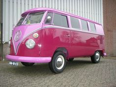T1 VW Bus purple color - pink on purple? ♠ re-pinned by http://www.wfpblogs.com/category/toms-blog/