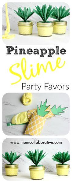 Pineapple Slime Party Favors Sensory Play DIY