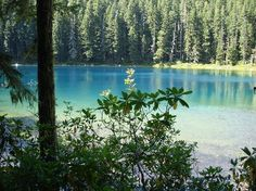 Lower Twin Lake in Oregon.  A great backpacking trip!  Love this place! SO BEAUTIFUL too!