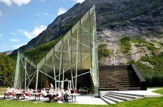 Troll Wall Restaurant by Reiulf Ramstad Architects in Trollveggen, Moreog Romsdal, Norway.