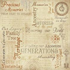Ancestry - 12x12 Scrapbooking Paper