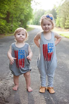 cute (not tacky) July 4th fashion for the whole family. From Oh Lovely Day on @itsmomtastic - American Babe Romper from Sheady Baby