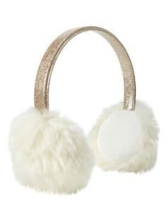 5143fb6da3 Sparkly Earmuffs in Ivory Frost from Gap Toddler Shoes