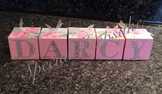 Personalised wooden name cubes SpecialKeepsake