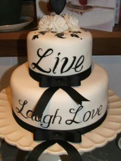 Live laugh love cake