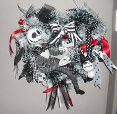 #Jack #Skellington #wreath #heart # Jack #toy #baubles #Nightmare before #Christmas #decoration http://www.ebay.co.uk/itm/181956662219?ssPageName=STRK:MESELX:IT&_trksid=p3984.m1555.l2649