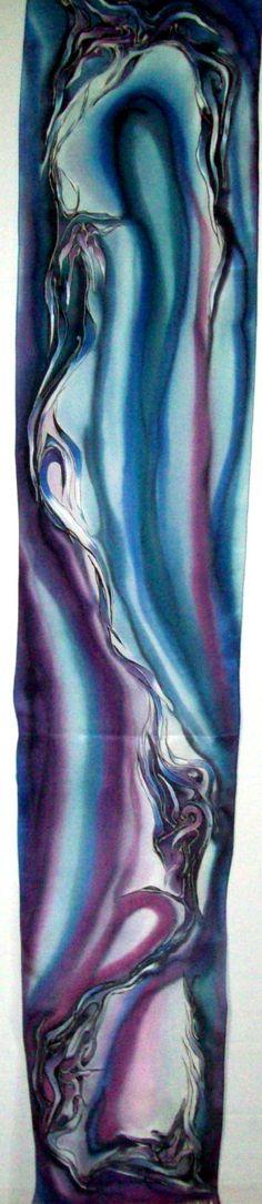 Szal - jedwab ręcznie malowany http://www.jedwabnerekodzielo.sklepna5.pl/