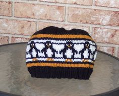Penguins on the March Hat...really fun to make and easy.