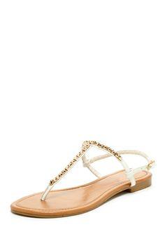 Pinky Summer Rose Gold Studded T-Strap Sandal