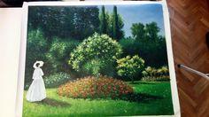 """Riproduzione a olio su tela di un quadro di Monet. """"Donna in giardino"""" http://www.tuttiquadri.it/monet/"""