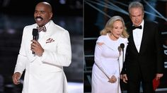 Steve Harvey tells Warren Beatty call me after envelope gate
