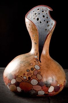 mnartists.org | Kristen Treuting | Rocks and Water - Gourd Art