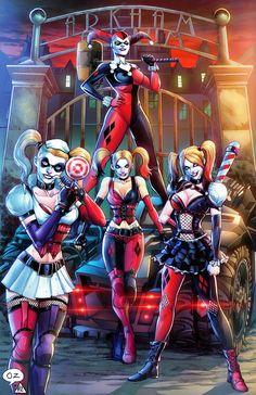 Batman: Arkham Knight - Harley Quinn Art by: ? Batwoman, Nightwing, Batgirl, Comic Book Characters, Comic Books Art, Comic Art, Badass Girl, Es Der Clown, Harely Quinn