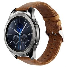 KADES Genuine Leather Retro Cowhide Smart Watch Band with quick release pin for Samsung Gear Classic and Gear Frontier (Large,Brown) Technology Gifts, Wearable Technology, Cheap Accessories, Iphone Accessories, Watch Accessories, Samsung Gear S3 Frontier, Smartwatch, Real Leather, Watch Bands