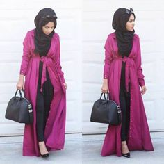 long kimono cardigan hijab, Hijab looks by Sincerely Maryam http://www.justtrendygirls.com/hijab-looks-by-sincerely-maryam/