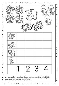 Graphing Activities, Kindergarten Math Worksheets, Counting Activities, Math Resources, Preschool Activities, Material Didático, Numbers Preschool, Simple Math, 1st Grade Math