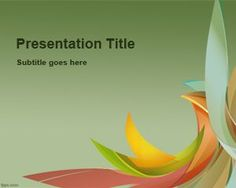 Color Petals PowerPoint Template