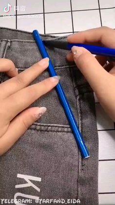 Diy Clothes Life Hacks, Diy Clothes And Shoes, Clothing Hacks, Sewing Clothes, Clothes Crafts, Sewing Basics, Sewing Hacks, Sewing Tutorials, Sewing Crafts