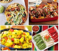 Ancho Chicken Tacos with Cilantro Slaw and Avocado Cream    Fiesta Foods: Nachos, Tacos & More    Cinco de Mango Salsa    Edible Flag for Cinco de Mayo