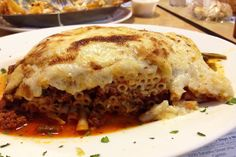 Pastichio from Taso's Euro-Cafe, a Greek restaurant on Access Road in Norwood, MA. (from http://hiddenboston.com/foodphotos/tasos-pastichio.html)
