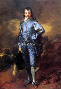 Thomas Gainsborough The Blue Boy (Jonathan Buttall) hand painted oil painting reproduction on canvas by artist Thomas Gainsborough, Anthony Van Dyck, Sir Anthony, The Blue Boy, Joshua Reynolds, Poster Prints, Framed Prints, Art Prints, Historical Costume