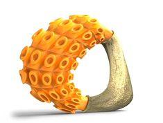 CAD-modelled orange ring by South Carolina's Michael Gayk