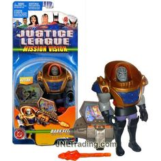 Mattel Year 2003 DC Comics Justice League Mission Vision Series 5 Inch Tall Figure - Villain DARKSEID with Mission Screen Missile Launcher and Missile