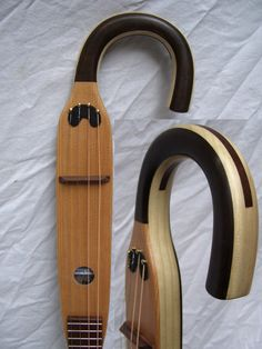 Custom Order Walking Cane Tenor Guitar  Free by ArCaneLutherie, on Etsy