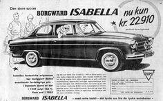 Borgward Isabella ad: from a Danish newspaper