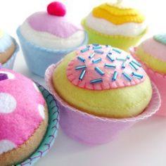 Filz-Cupcakes