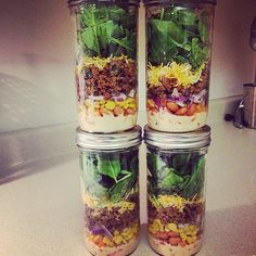 Follow our recipe for a vegetarian taco salad. Image Source: Instagram user xx.gettingfit.xx